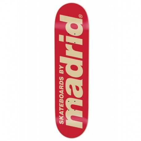MADRID CLASSIC LOGO RED 8.25""