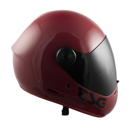 CASQUE PASS SOLID COLOR GLOSS OXBLOOD (+ bonus visor)
